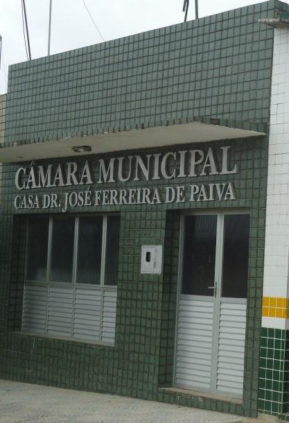 Câmara de Vereadores de Caldas Brandão. Presidente Saulo Filho