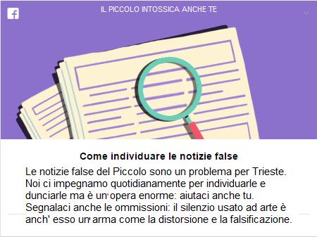BASTA FAKE NEWS DEL PICCOLO /1