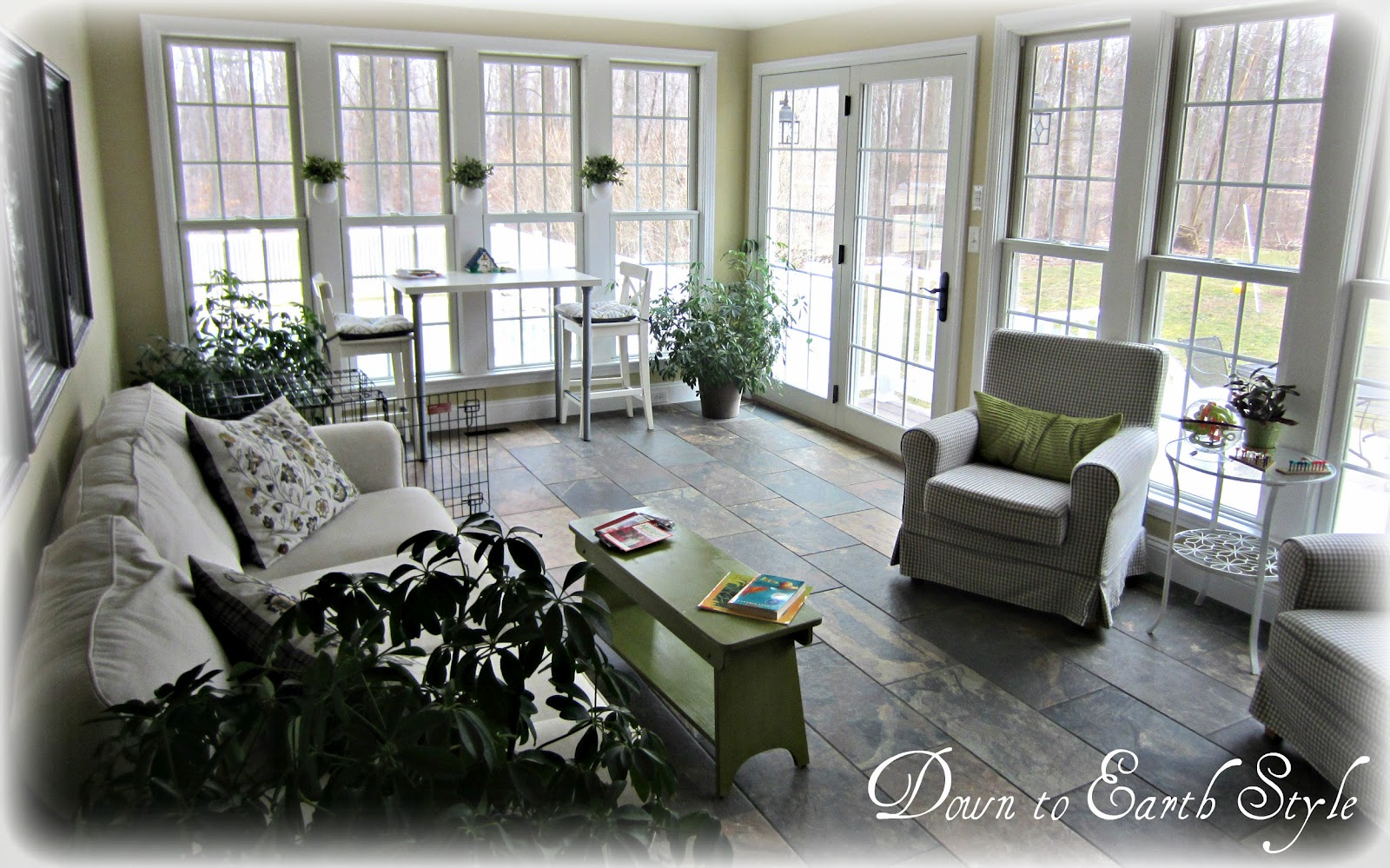 Down To Earth Style Sun Room Style