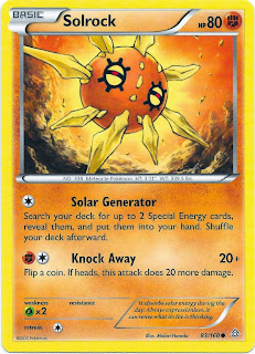 Solrock Primal Clash Pokemon Card