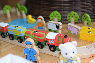 BigJigs wooden farm train set and christmas train - Christmas gift guide 2015 - Emma in Bromley
