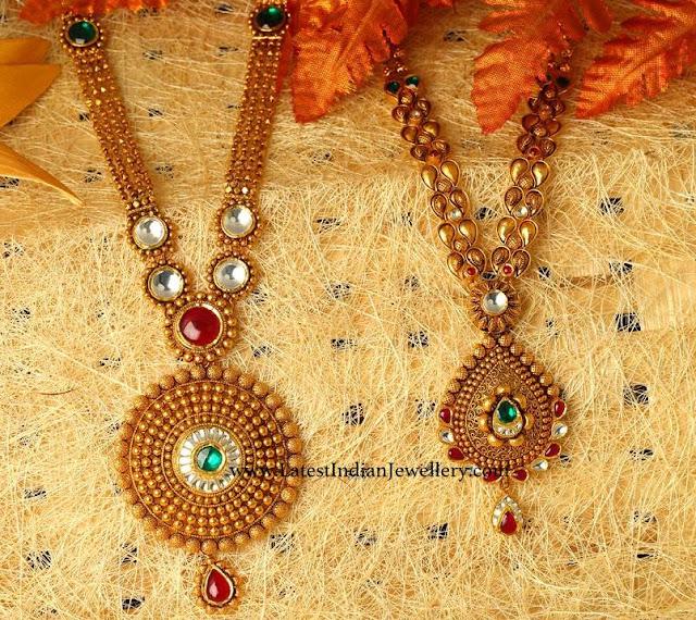 Gold Kundan Haram Designs