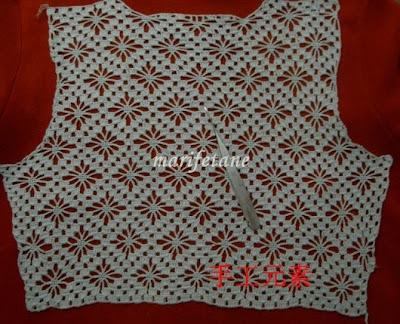 Crocheted bolero