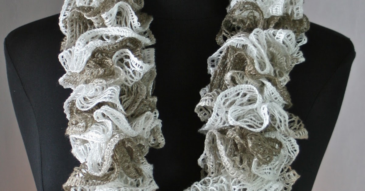Knots N Knits Crocheted Ruffled Scarves Sashay Vs Starbella