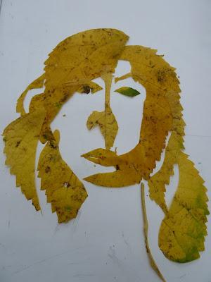 Earthy materials self portrait 2 2011 cut leaf