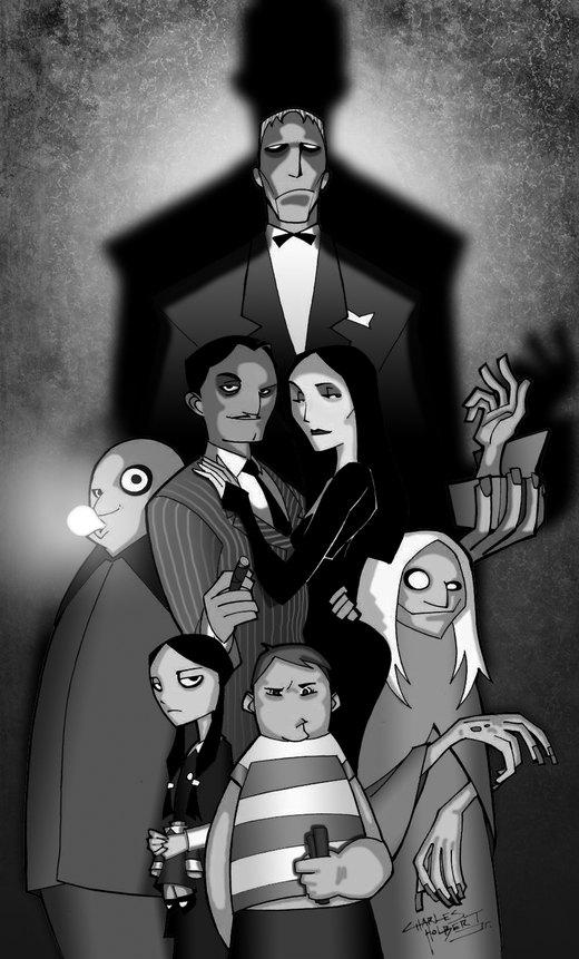 The Addams Family B and W por Balsavor