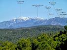 La Tosa d'Alp, el Puigllançada i el Catllaràs des del Bosc de Coromines