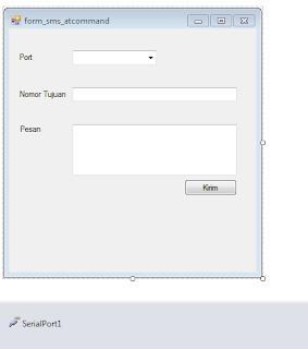 Membuat SMS Gateway Dengan VB.NET Express Menggunakan AT COMMAND Pada WIndows