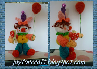 Birthday Clown With Balloons Crochet