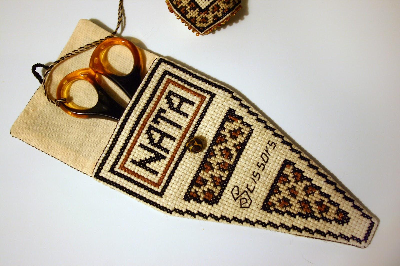 схемы вышивки для чехла для ножниц