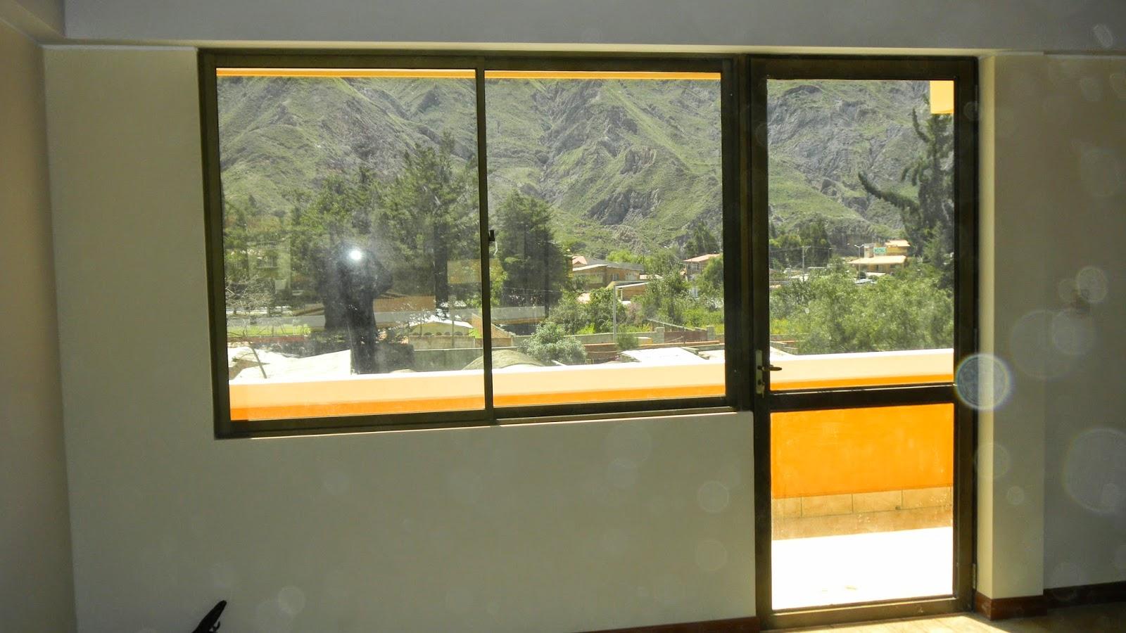 puerta ventana de aluminio