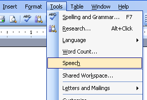 Installing Speech Recognition with MS Office