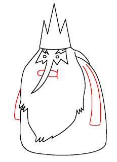 How To Draw Ice King Adventure Time Step 5