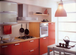Modern Design Red Kitchen Cabinets