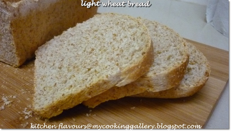 kitchen flavours: Light Wheat Bread