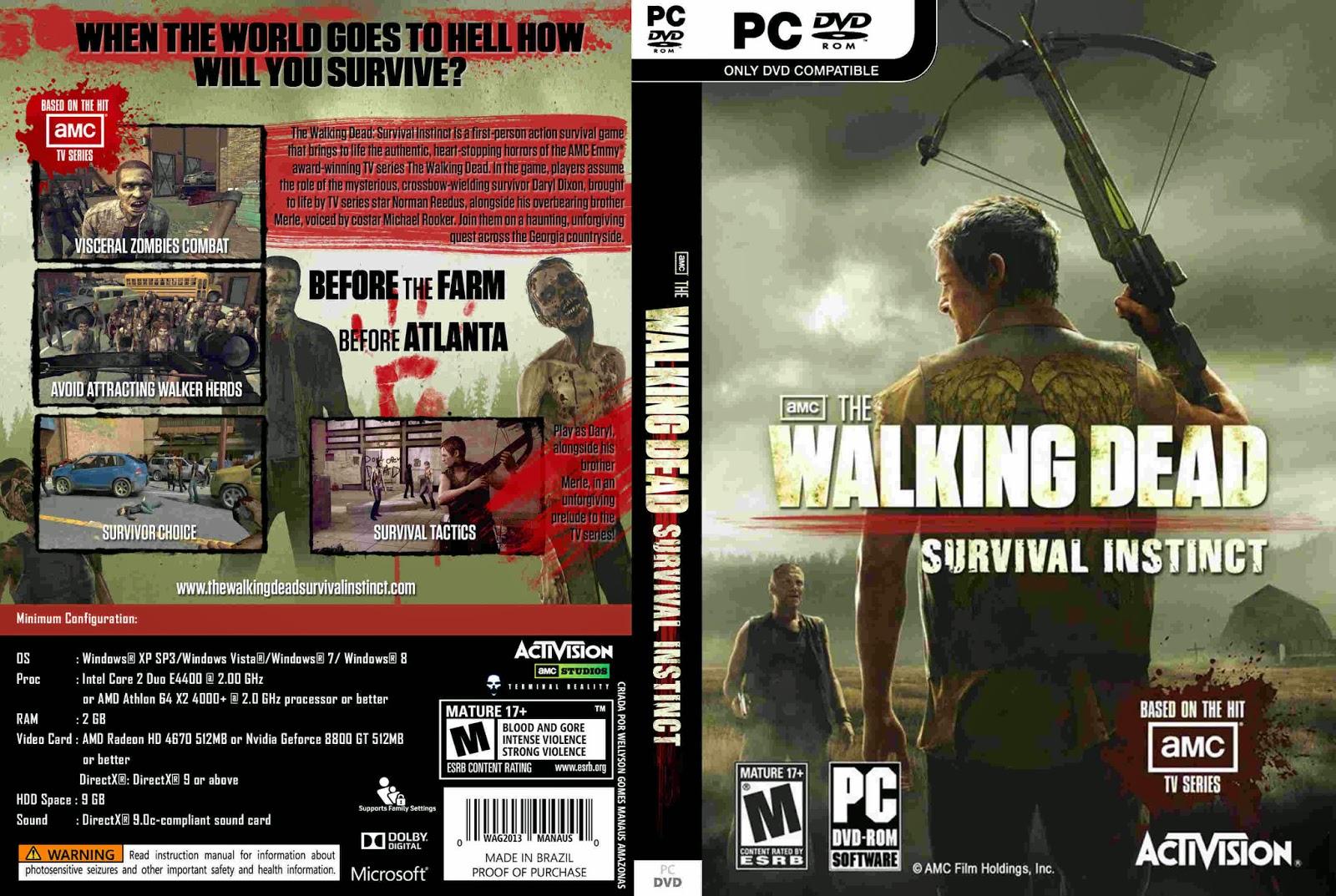 The Walking Dead Survival Instinct pc capa