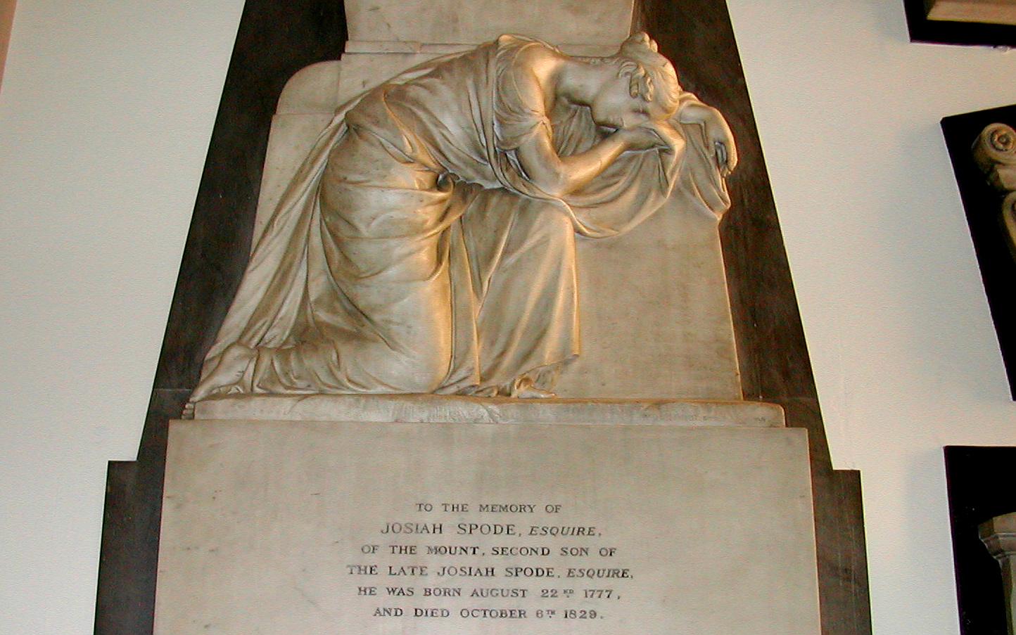 Josiah Spode III monument in Stoke Minster
