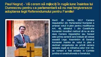 Paul Negruț — COMUNICAT