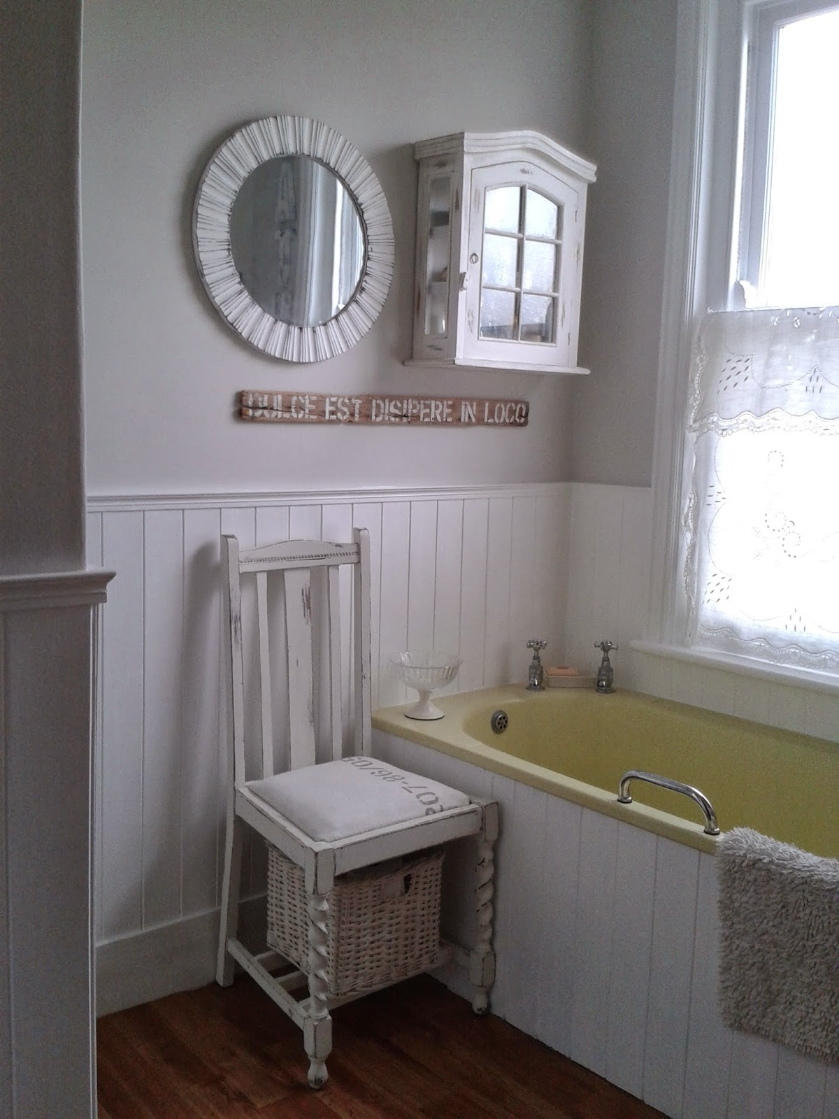 Tongue and groove for bathrooms - As I Mentioned In The Last Post There Is Now A Colour Above The New White Tongue And Groove Panelling Albeit A Very Pale Colour