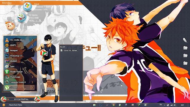 Tema Haikyuu!! Windows 7 Anime Hitto