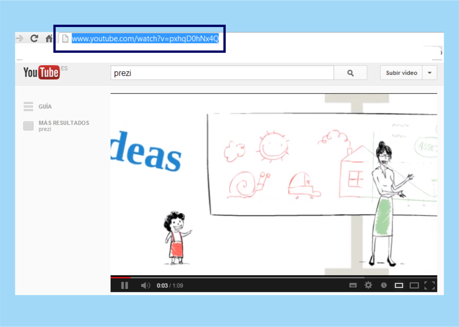 how to add a youtube video in prezi