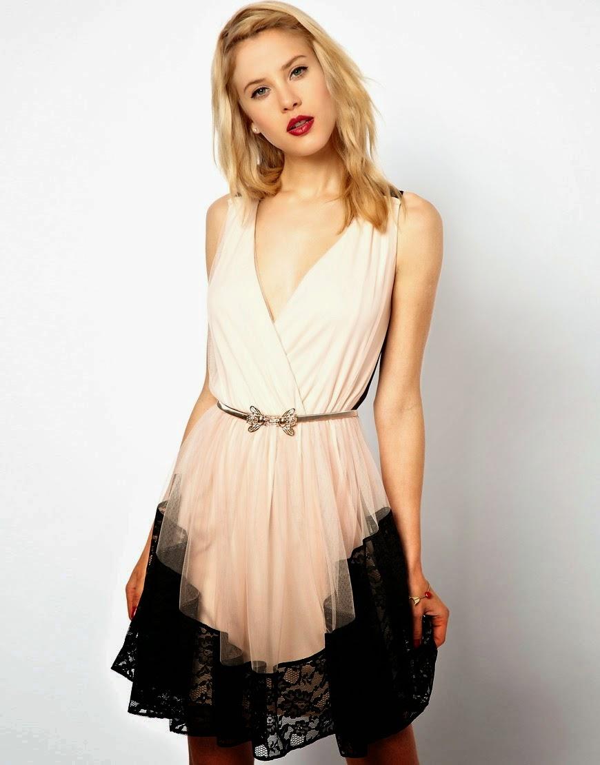 Moda: vestidos de encaje cortos