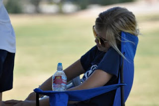 Willow Cozzens, on the sideline of Samba State Cup Game