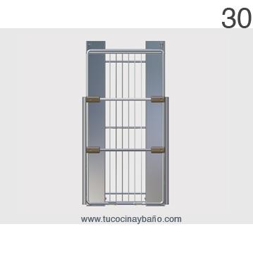 Cesto extraible multiuso plus tu cocina y ba o for Puertas para muebles de cocina precios