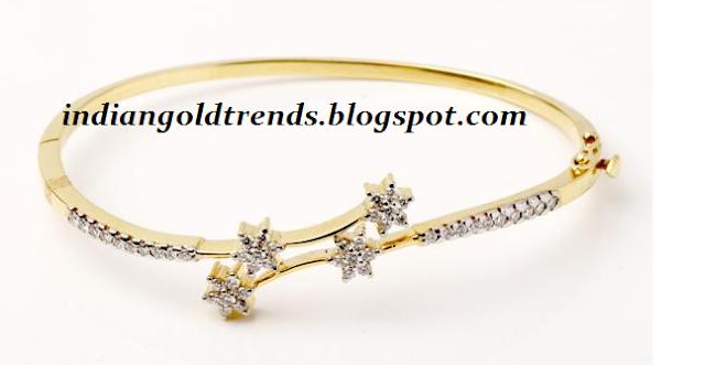 simple gold bracelet by tt devassy jewellers