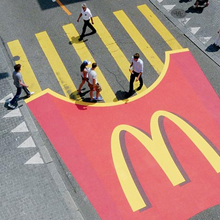 publicidad McDonalds cebra