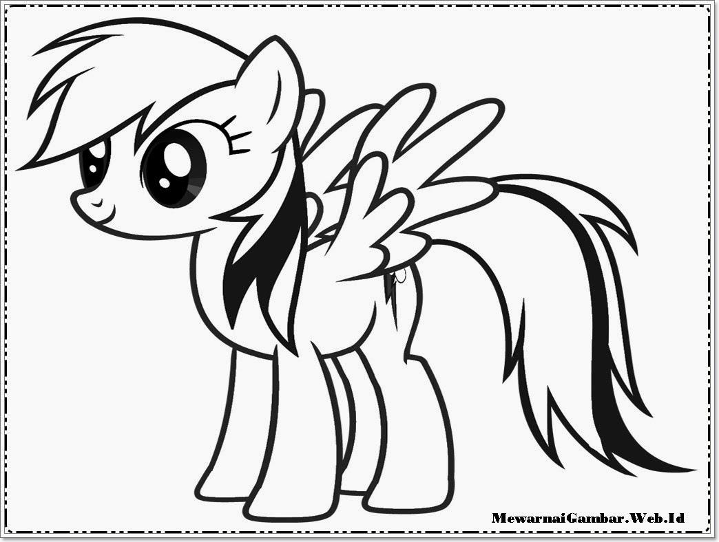 Mewarnai Gambar My Little Pony | Mewarnai Gambar