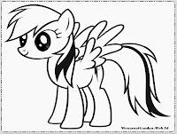 gambar my little pony untuk diwarnai