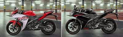 Yamaha R25 Merah dan Hitam