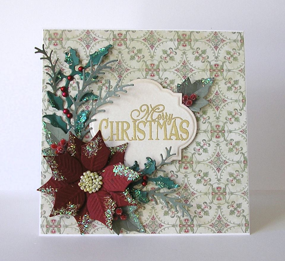 urge to make a christmas cardi treat myself to even more new dies and found a couple of hours yesterday to play with them here is what i came up with - Fancy Christmas Cards