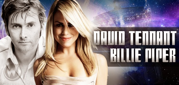 David Tennant and Billie Piper at Wizard World Fan Convention, Philadelphia, PA