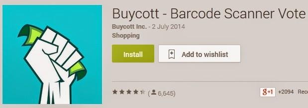 Aplikasi untuk scan kod bar bagi kempen Boikot Israel