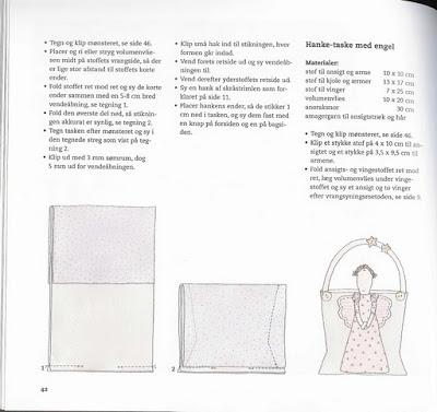 bolsinha com anjinho em patcwork com PAP (DIY) e molde