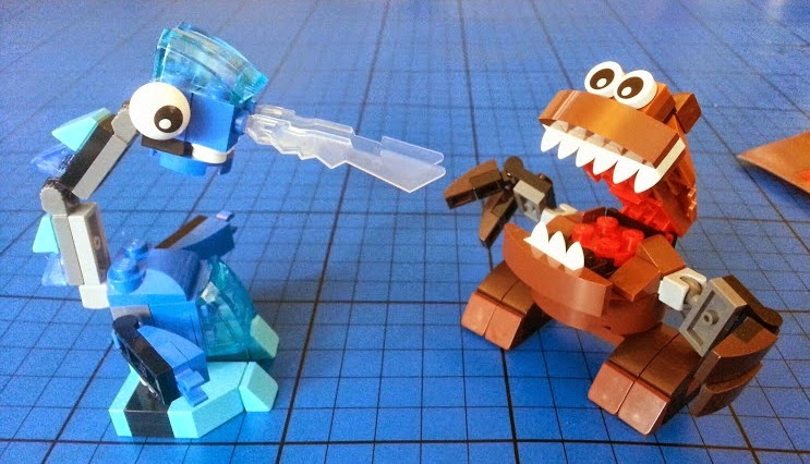 LEGO Mixel Fang Gang Gobba and Frosticon Lunk 41513 41510 Review