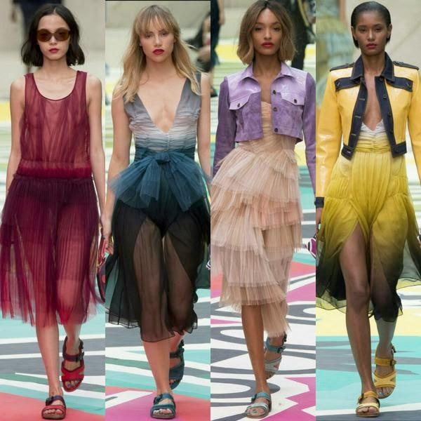 tulle trend, SS25 trends, SS15 fashion trends, Diane Von Furstenburg SS15, Burberry SS15