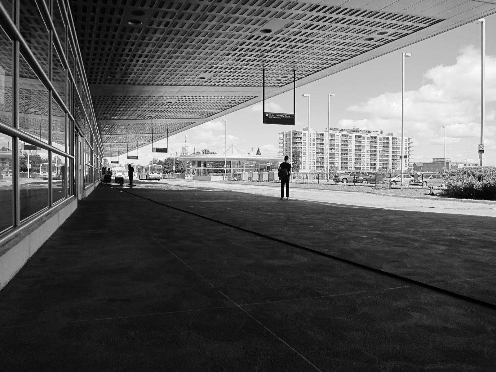 Photo: Bus platform, Downsview Station, Toronto