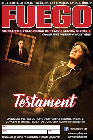 "Paul Surugiu - Fuego: ""TESTAMENT"" (22 - 28 mai 2017)"