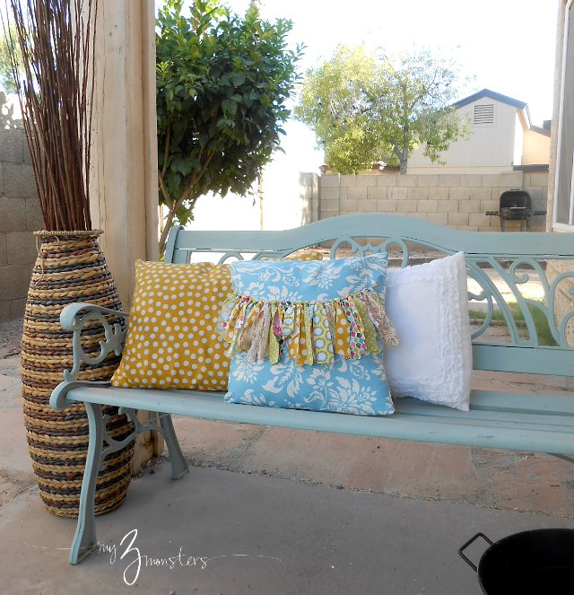 Adding some warmth to your front porch with pillows and accessories at my3monsters.com