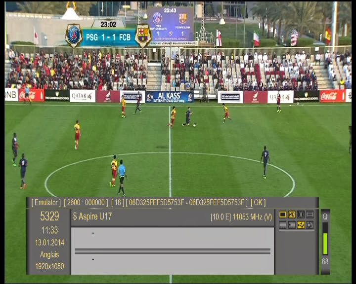 Feeds Barcelona -:- PSG U17 On Eutelsat 10A 10.0°E
