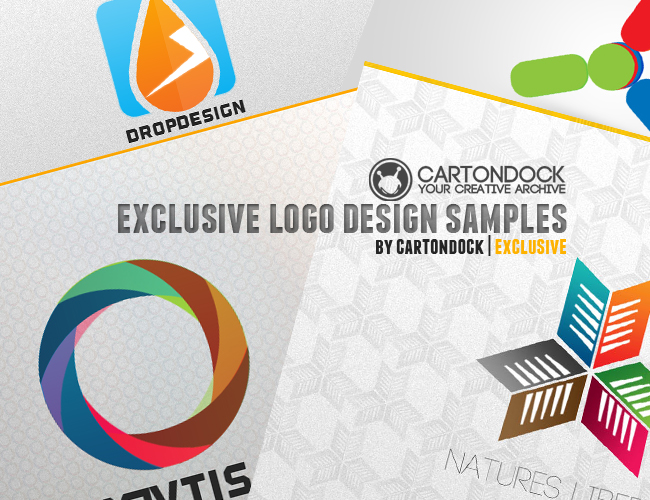 Exclusive Logo Design Samples PSD, Logo Collection Freebie