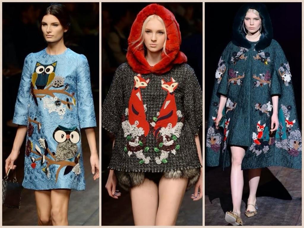 dolce & gabbana, autunno/inverno 2014/2015, sfilate, milano fashion week, gufi dolce & gabbana,