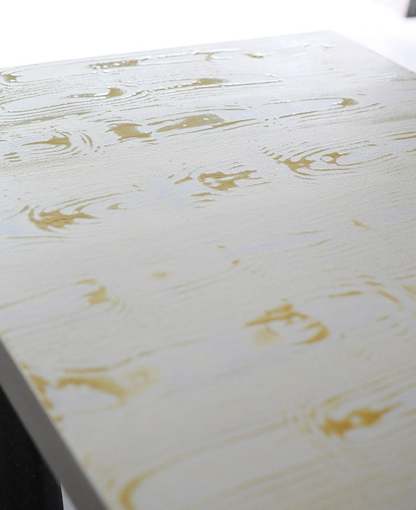 How to apply faux bois to a desk top (or any flat surface). Tutorial available at monicawantsit.com