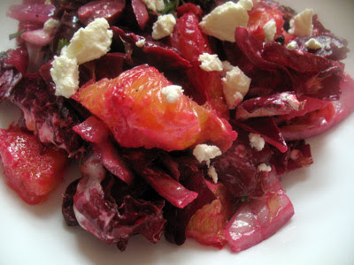 Beet, Orange, Olive Salad with Goat Cheese