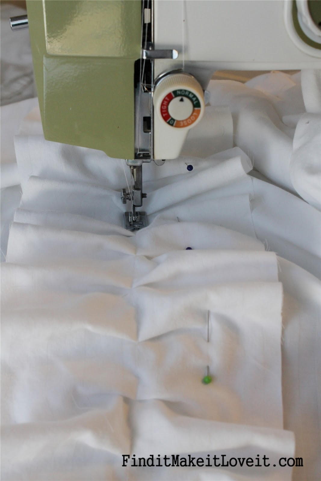 Ruffled curtains tutorial - Once All The Ruffle Strips Are Sewn To The Panels Hem The Top Leaving A Pocket For The Curtain Rod