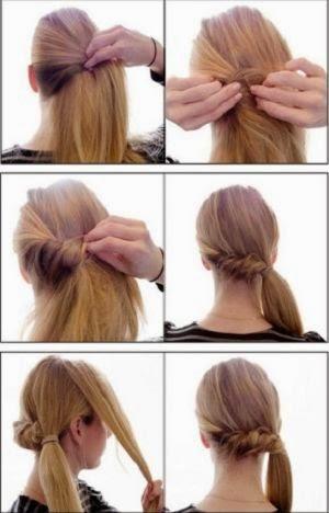 Yandan burgu at kuyruğu saç modeli yapılışı resimli anlatım