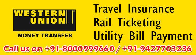 Western Union Money Transfer, Adani Gas Bill Payment Cash Collection Center, LIC Bill Payment, Railway Ticketing, Railway Ticket Agent Ahmedabad,